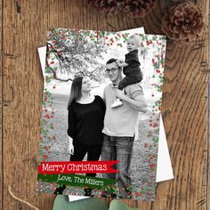 Christmas Digital Card, Holida, Festive Printable Card, Photo Christmas Cards, Seasons Greetings. Printable Cards, Family Photo Cards by PoppyPaperDesigns on Etsy https://www.etsy.com/listing/560801457/christmas-digital-card-holida-festive