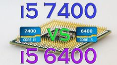 i5 7400 vs i5 6400 - BENCHMARKS / GAMING TESTS REVIEW AND COMPARISON / K...