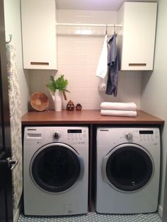 our laundry room is finally complete. it only took us four years to do it…