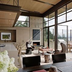 This modern single family home is located in Washington Park, a neighborhood in east central Seattle, Washington, USA.