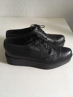Black leather flatform,platform,creepers inspired vagabond acne cos otherstories | Vêtements, accessoires, Femmes: chaussures, Chaussures plates, ballerines | eBay!