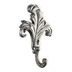 Pewter Feather Hook | Rain Collection - Pretty for the back of the bathroom door. Sale $5.99.