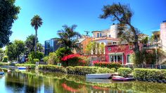 Venice Canals in SoCal.  Reminds me of our visit with the Schades!