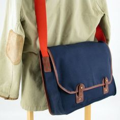 MKVII Canvas Laptop Bag, Made in England