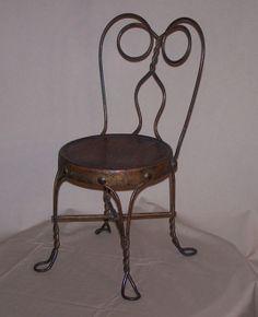 FJ040 Antique Salesman Sample Chair