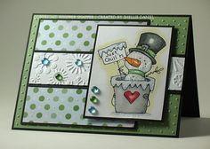 SC204 Snowman in a Bucket by shellied - Cards and Paper Crafts at Splitcoaststampers