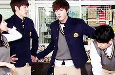 Kim woo bin and lee jong suk on running man