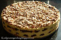 Koekje van eigen deeg: Bokkepootjestaart. Recept op: http://koekjevaneigendeeg.blogspot.nl/2011/10/bokkepootjestaart.html