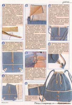 Denim backpack tutorial by cathy Denim Bag Tutorial, Backpack Tutorial, Backpack Pattern, Denim Backpack, Denim Purse, Jean Crafts, Denim Crafts, Sewing Tutorials, Sewing Patterns