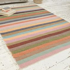 Striped+Herringbone+Rug+|+Tuppence+|+Loaf