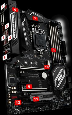 MSI Z270 GAMING PRO CARBON motherboard supports 7th Intel Kaby Lake processors, DDR4-3866+ Memory, with Intel Z270 chipset to provide the best virtual reality game experience without latency, reduces motion sickness
