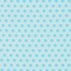 kankaita.com Cotton Ympyrä 2 - Puuvilla - turkoosi
