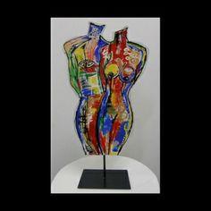 Togheter metal sculpture
