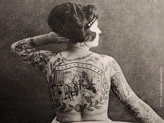 tattooed lady | Victorian circus.