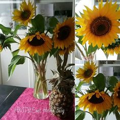 SUMMER FLOWERS..Sunflowers..My HOME&DECORATE Style...Light, Sun&Joy to Your Days&LIFE. Simple, not much money need and Simple things are Enjoy&Lovely in Life I Think so. RECOMMENDED. U? See U...SMILE #blog #lifestyleblog #flowers#simple #best #lovely #enjoy  #home #decorate #enjoy #style #see #smile #world#favourite #sunflowers #yellow #joy ❤☺