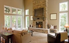 Instantly cozy an entire room simply by giving your fireplace a makeover!