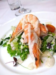 A beautifully presented prawn dish for the starter.