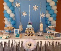 decoração de festa tema Frozen