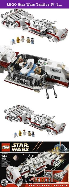 LEGO Star Wars Tantive IV (10198). The Star Wars(tm) saga begins! Blasting through space with Darth Vader's Star Destroyer in pursuit, the Tantive IV blockade runner carries Princess Leia, C-3PO and R2-D2 on a vital mission for the Rebel Alliance. Celebrate the entire Star Wars saga with this all-new version of the very first starship seen in the films! The Tantive IV features an opening cockpit, rotating and elevating turbo laser cannons, rotating radar dish, removable roof section and...