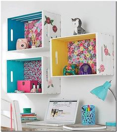 fruit crates shelving idea