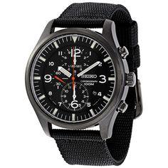 4950c16e73a Seiko Chronograph Black Ion Men s Watch SNDA65