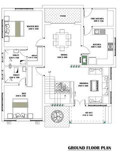 2bhk House Plan, House Plans Mansion, Three Bedroom House Plan, Model House Plan, House Layout Plans, Duplex House Plans, Dream House Plans, Bungalow Floor Plans, Home Design Floor Plans