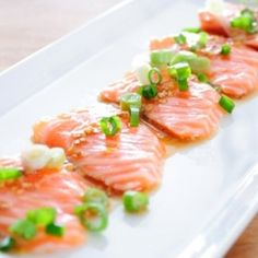 Salmon Carpaccio with Ponzu Mustard Dressing- make people think you're a master chef with this super easy and quick recipe.