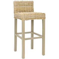 @Overstock - Safavieh St Thomas Indoor Wicker Grey/ Beige Bar Stool - The St. Thomas Collection brings a piece of the resorts to any room with bar stool featuring beautifully woven beige wicker, a sturdy grey wood frame and a chic design brings a fresh look to any island decor.  http://www.overstock.com/Home-Garden/Safavieh-St-Thomas-Indoor-Wicker-Grey-Beige-Bar-Stool/6347621/product.html?CID=214117 $147.13