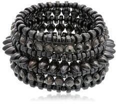 Curio Cottage Strand Bracelet for Women (Metallic black)