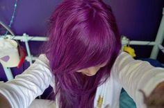 long purple hairstyle