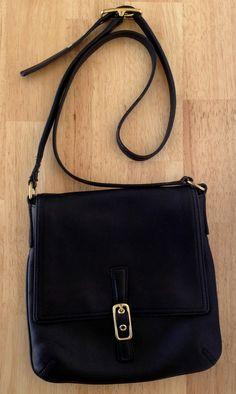 86528affec Gorgeous COACH Legacy Soft Black Leather Crossbody Bag Handbag Purse Vtg  9592  COACH  Crossbody