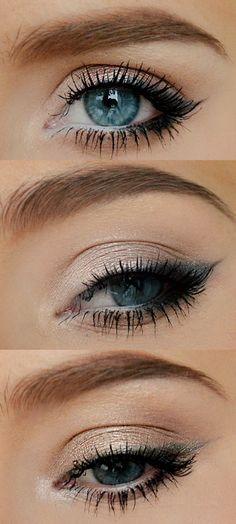 Everyday pretty eyes makeup