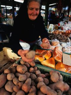 Vendor at Lehel Ter Market Stall, Budapest, Hungary. Photo: David Greedy