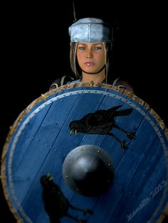"""Randgrid : Valkyrie meaning :  hield-truce""""or possibly """"shield-destroyer."""