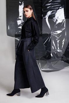 Photographer: Paavo Lehtonen MUAH: Piia Hiltunen Stylist: Shadi Razavi Model: Christina Shevelkova Red Moon, Light And Shadow, Collar Shirts, That Look, Trousers, Feminine, Collection, Style, Fashion