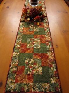 Autumn Colors Fall Table Runner