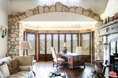 Mel Gibson lists manor house in mountains above Malibu Malibu Mansion, Stone Archway, Long Driveways, Mel Gibson, Wood Crosses, Celebrity Houses, Luxury Real Estate, Old World, Property For Sale