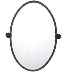 "Bathroom Mirrors Oil Rubbed Bronze 24"" metal framed mirror - round | frame mirrors, oil rubbed bronze"