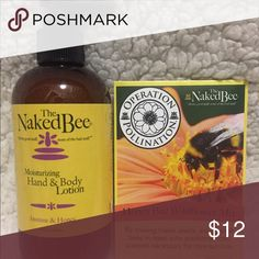 Naked Bee 8 oz pump lotion with a free gift Naked Bees newest scent - Jasmine & Honey. Smells great!!!!  8 oz pump lotion. With each purchase you get a free gift (honeybee wildflower seeds).  Retails $15 Naked Bee Other