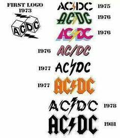 AC / DC logo evolution..