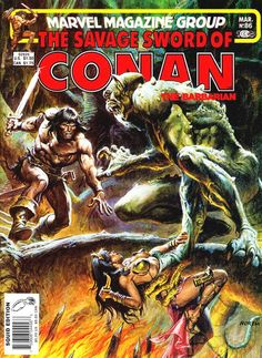 The Savage Sword of Conan vol. 1 # 86 (March, 1983). Cover by Earl Norem.