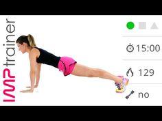 HIIT Basso Impatto Per Principianti Con Plank In Movimento - YouTube