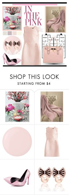 """In the Pink (Romance)"" by pat912 ❤ liked on Polyvore featuring Blumarine Home Collection, Deborah Lippmann, Salvatore Ferragamo, Retrò and dress"