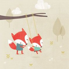 Sarah Ward Illustration - sarah ward, sarah, ward, novelty, picture book, digital, young, sweet, commercial, educational, activity, animals, foxes