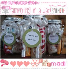 DIY : Christmas gifts : Girl's! : Pampering in a jar!