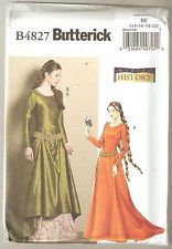 Butterick Sewing Pattern B4827 History - Medieval Gown & Belt Costume Sz 14-20