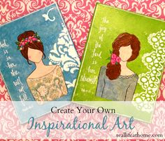 create your own beautiful inspirational art with this step-by-step tutorial (which includes a body template)| RealLifeAtHome.com