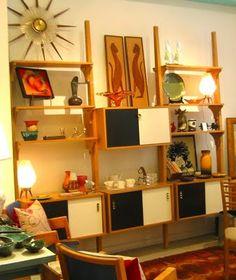 this vintage shelving unit