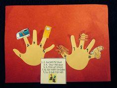 """Nursery Rhyme, """"One, Two, Buckle My Shoe"""" (free printable; from Preschool Wonders)"""