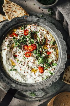 Naan, Most Delicious Recipe, International Recipes, Creative Food, Summer Of Love, Food Styling, Pesto, Dip, Food Photography